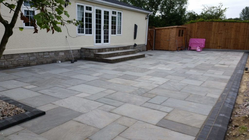 grey patio garden